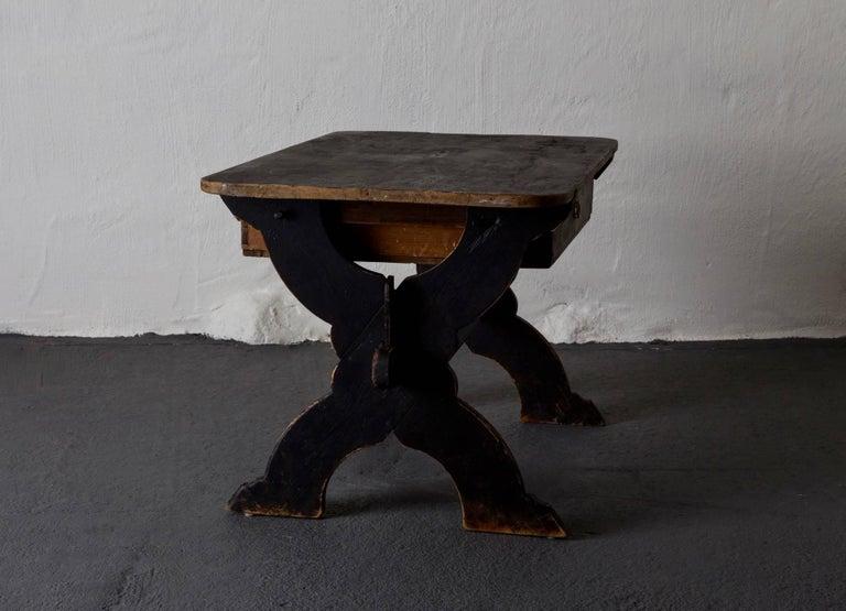 Desk Swedish 19th Century Black Rustic Sweden For Sale 2