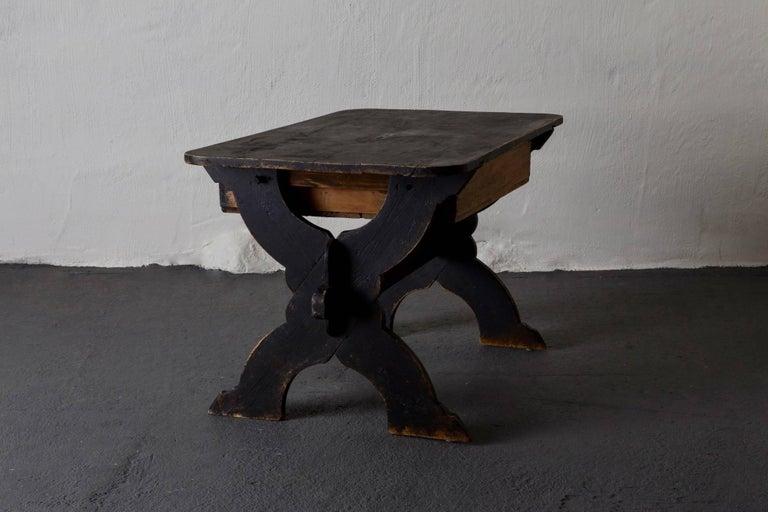 Desk Swedish 19th Century Black Rustic Sweden For Sale 4