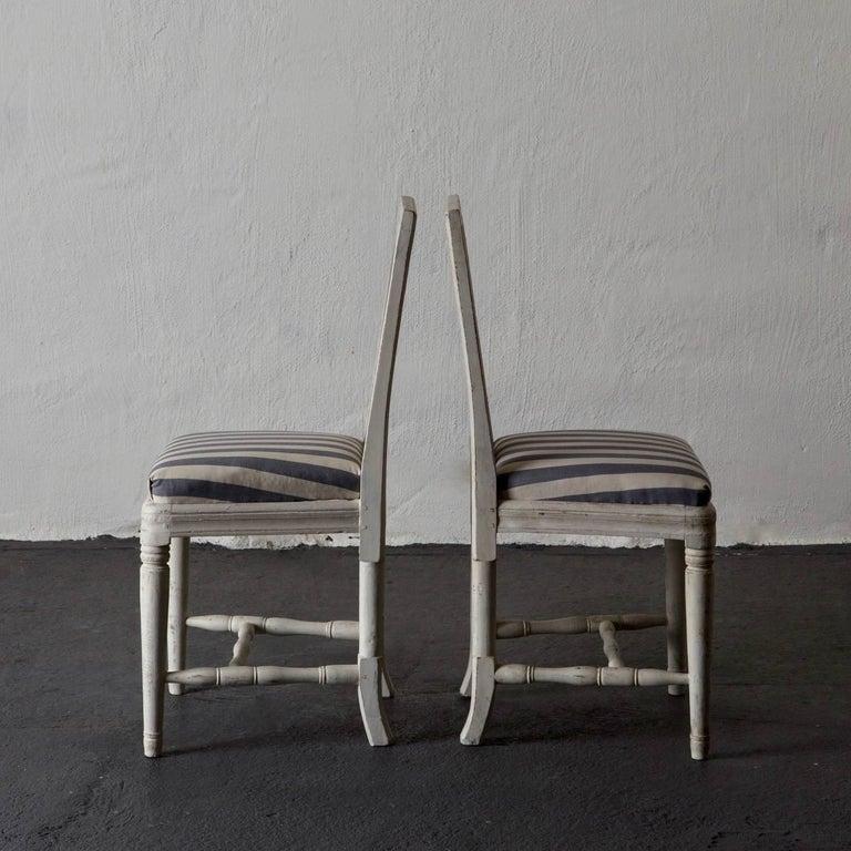Chairs Dining Set of six Swedish Gustavian Neoclassical White Sweden. A set of six Swedish Gustavian Dining room chairs made during the Gustavian period 1790-1810.