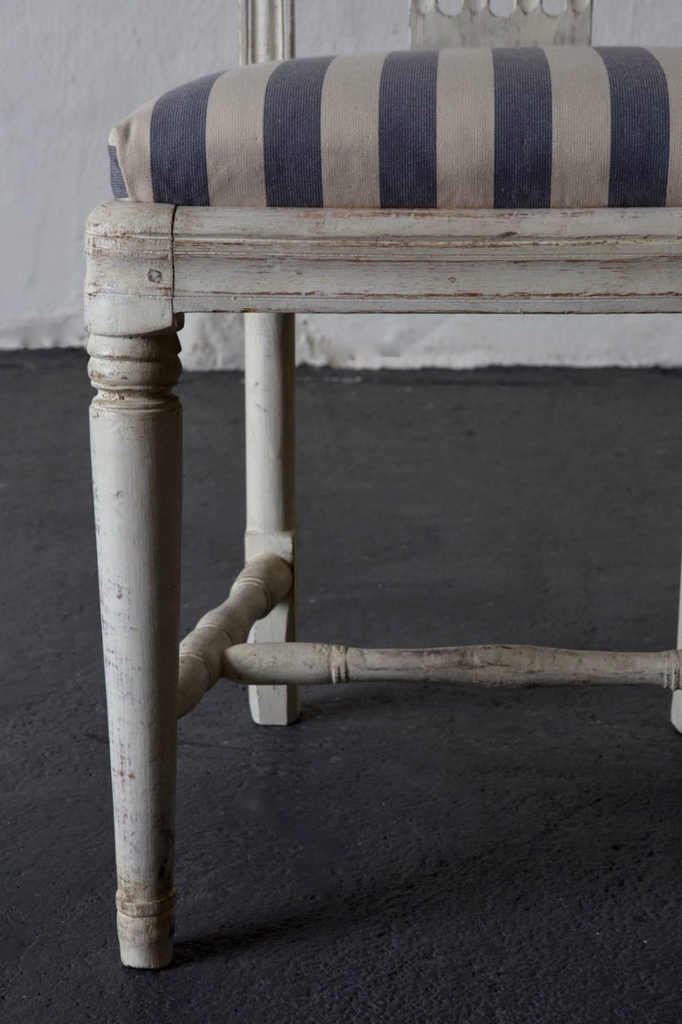 Dining Chairs Set of Six Swedish Gustavian Neoclassical White Sweden 1