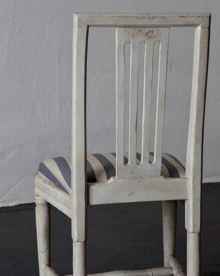 Dining Chairs Set of Six Swedish Gustavian Neoclassical White Sweden 4