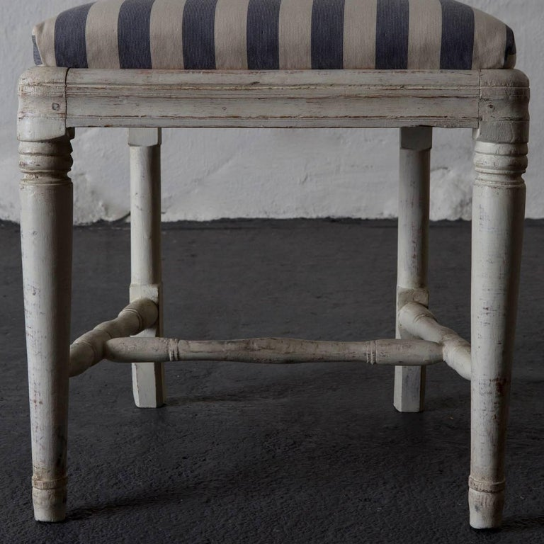 Dining Chairs Set of Six Swedish Gustavian Neoclassical White Sweden 5