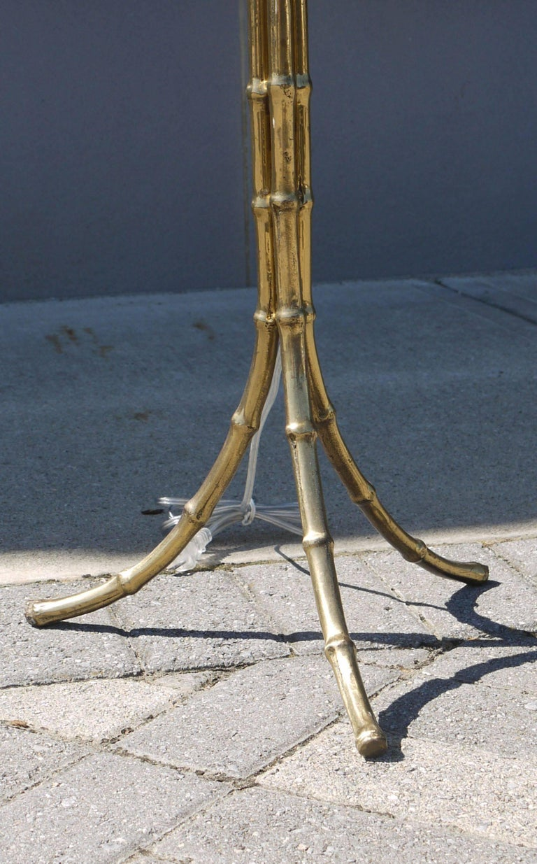 Polished Bronze Floor Lamp by Bagues 4