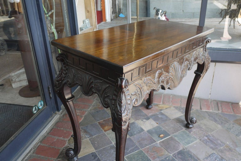 Carved 19th Century Irish Chippendale Console For Sale