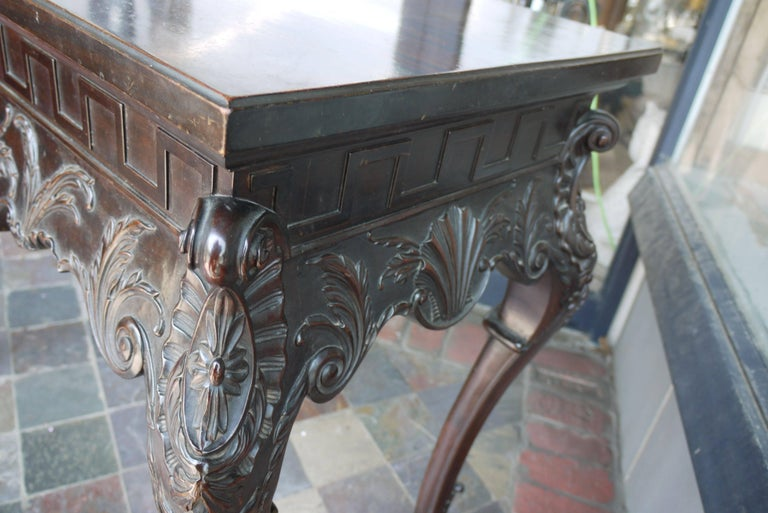 Mahogany 19th Century Irish Chippendale Console For Sale