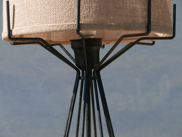 Mid-Century Modern Machined Steel and Brass Midcentury Lamp For Sale
