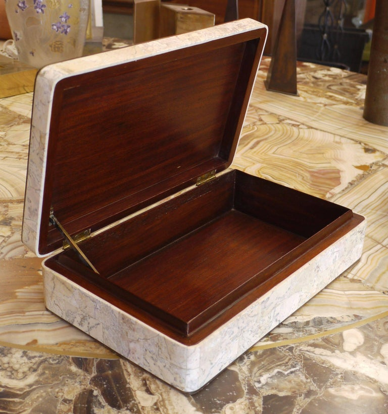 American Specimen Marble Box by Maitland Smith For Sale