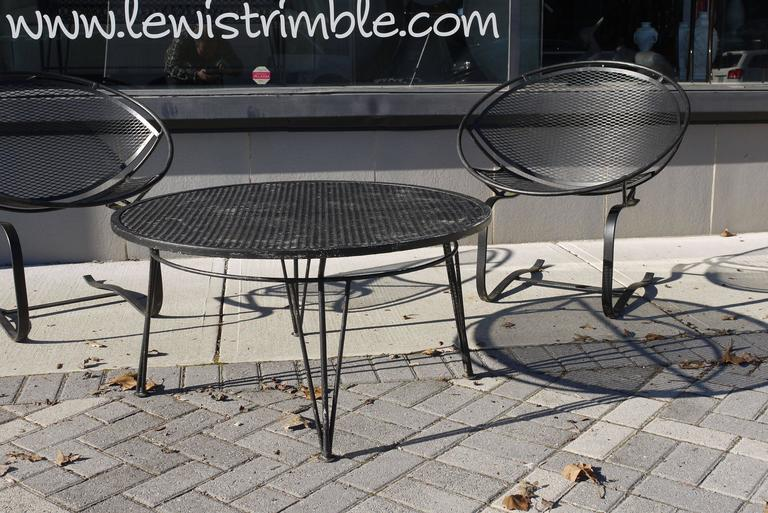 Pair of Salterini Springer Hoop Chairs and Table 2