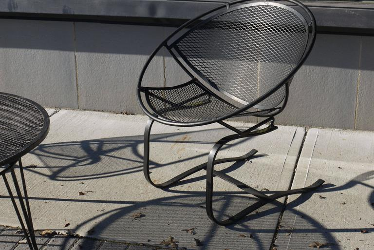 Pair of Salterini Springer Hoop Chairs and Table 4