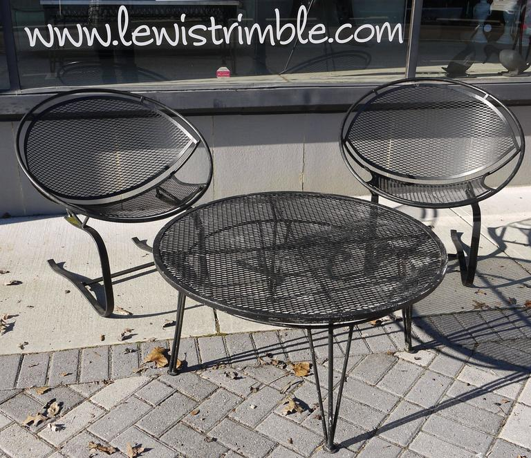 Pair of Salterini Springer Hoop Chairs and Table 5