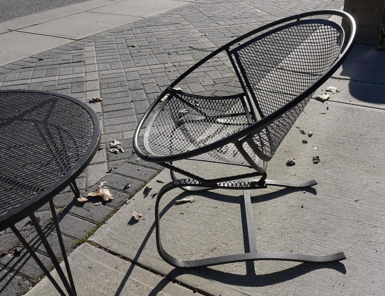 Pair of Salterini Springer Hoop Chairs and Table 6
