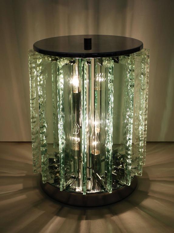 Italian Chiseled Glass Table Lamp 3