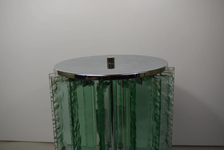 Italian Chiseled Glass Table Lamp 6
