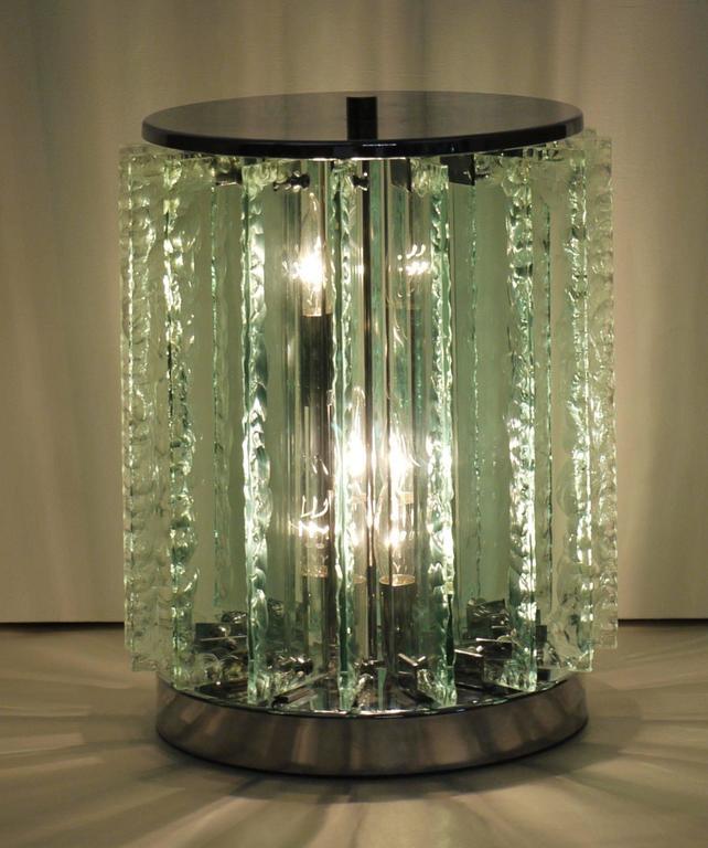 Italian Chiseled Glass Table Lamp 7