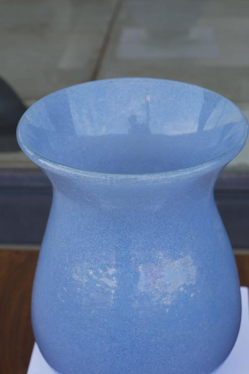 Modern Massive 'Sommerso a Bollicine' Footed Vase Attributed to Napoleone Martinuzzi For Sale