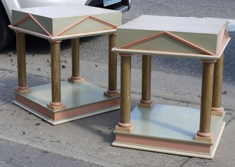 Pair of Neoclassical Inspired Post Modern Tables 2