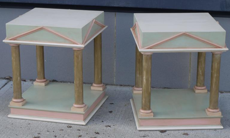 Pair of Neoclassical Inspired Post Modern Tables 5