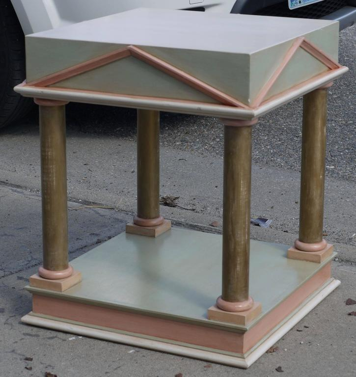 Pair of Neoclassical Inspired Post Modern Tables 6