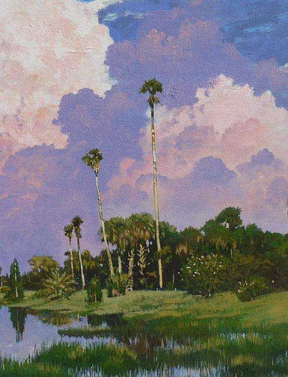 Painting of Myakka Lake Florida by Kent Sullivan 2