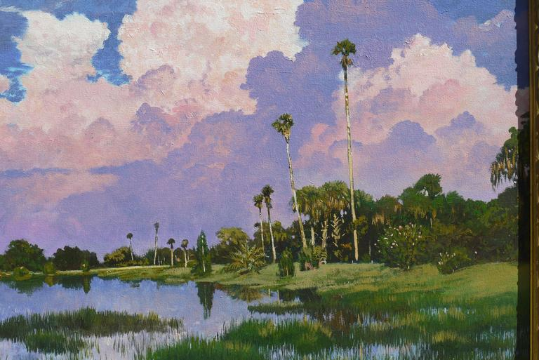 Painting of Myakka Lake Florida by Kent Sullivan 3