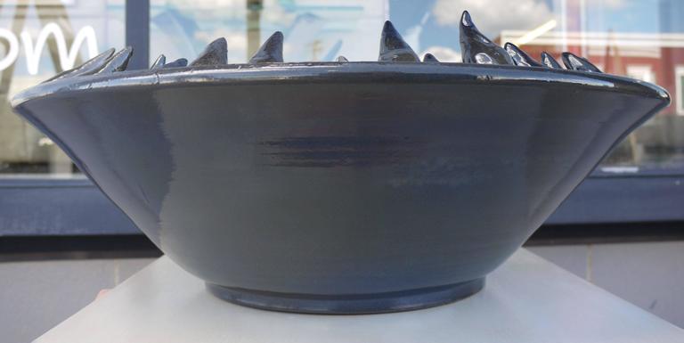 Sculptural Blue Anemone Bowl by Studio Esposito 6