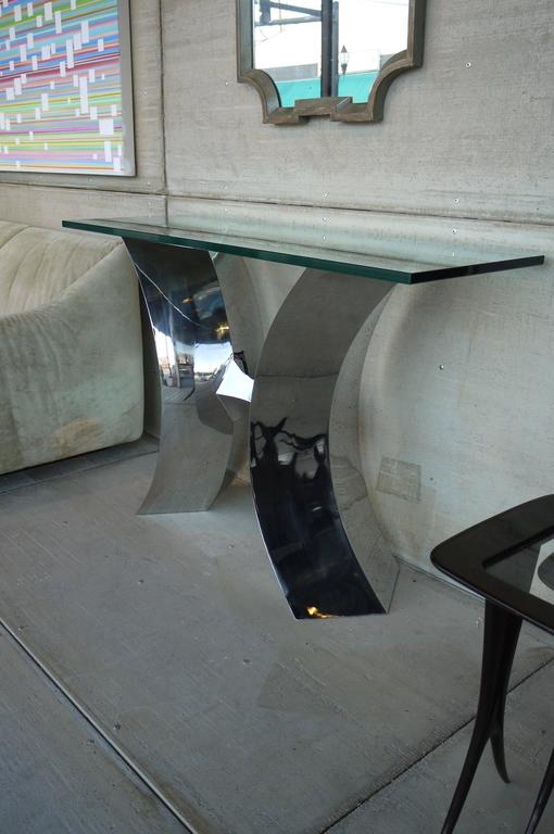 Forged Stainless Steel Console Table by Curtis Norton 6