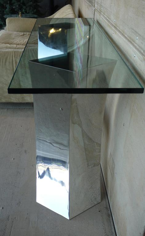 Forged Stainless Steel Console Table by Curtis Norton 7