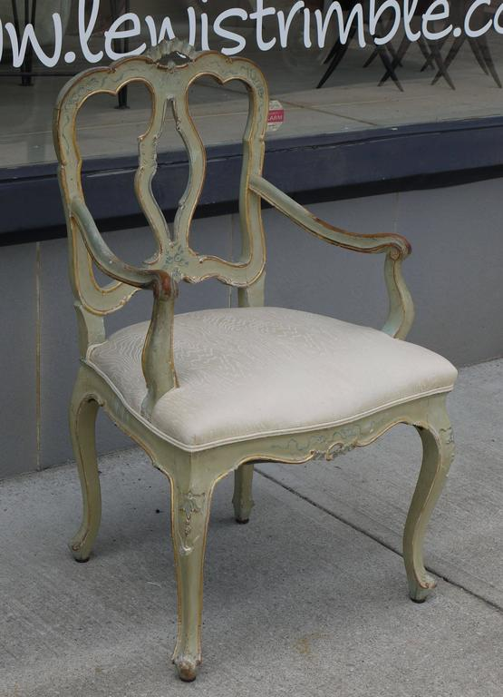 Set of Eight 19th Century Venetian Chairs 2