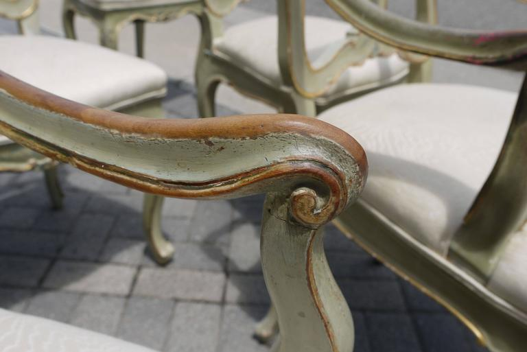 Set of Eight 19th Century Venetian Chairs For Sale 1