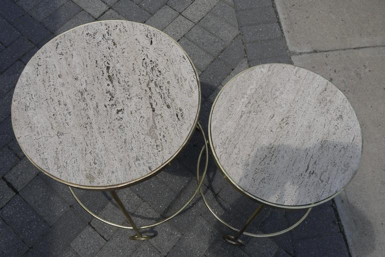 "Graduated Set of ""Yoyo"" Side Tables After Jean Royere 3"