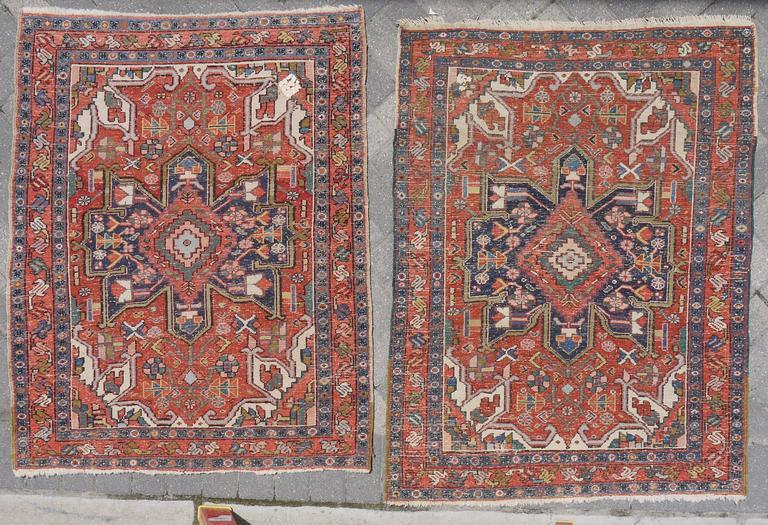 Pair of Late 19th Century Serapi Rugs 2