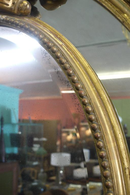Massive Late 19th Century Carved Gesso Mirror 6