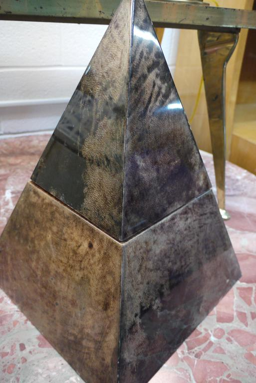 Rare Pyramid Ice Bucket by Aldo Tura 2