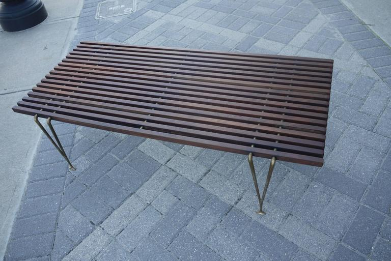 "Early ""Suspended Beam"" Bench or Coffee Table by Hugh Acton 3"