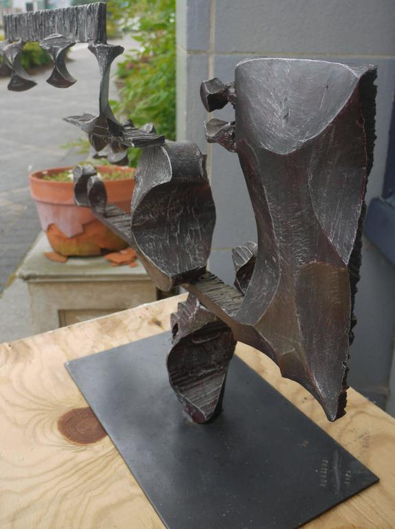 Large Brutalist Forged Iron Sculpture by Gianfranco Romagna, 1970 3