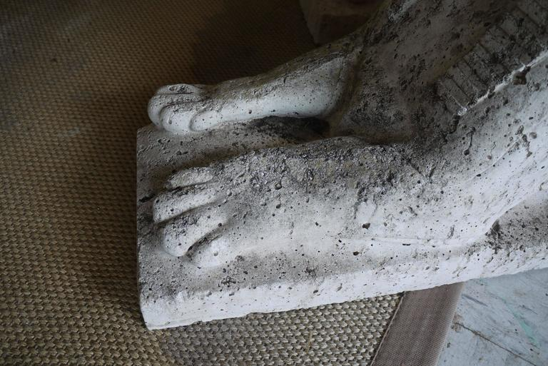 Pair of Cast Stone Sphinxes For Sale 1