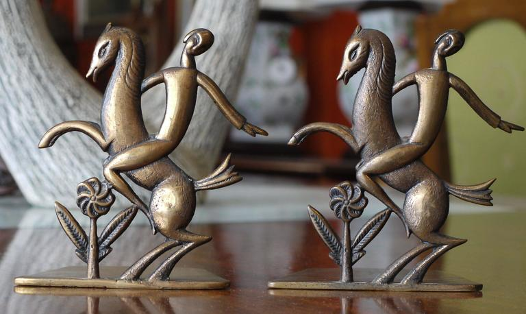 Pair of Art Deco Bronze Bookends 2