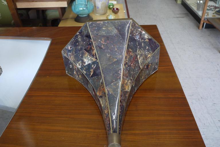 Pair of Maitland-Smith Faux Tortoiseshell Sconces 2