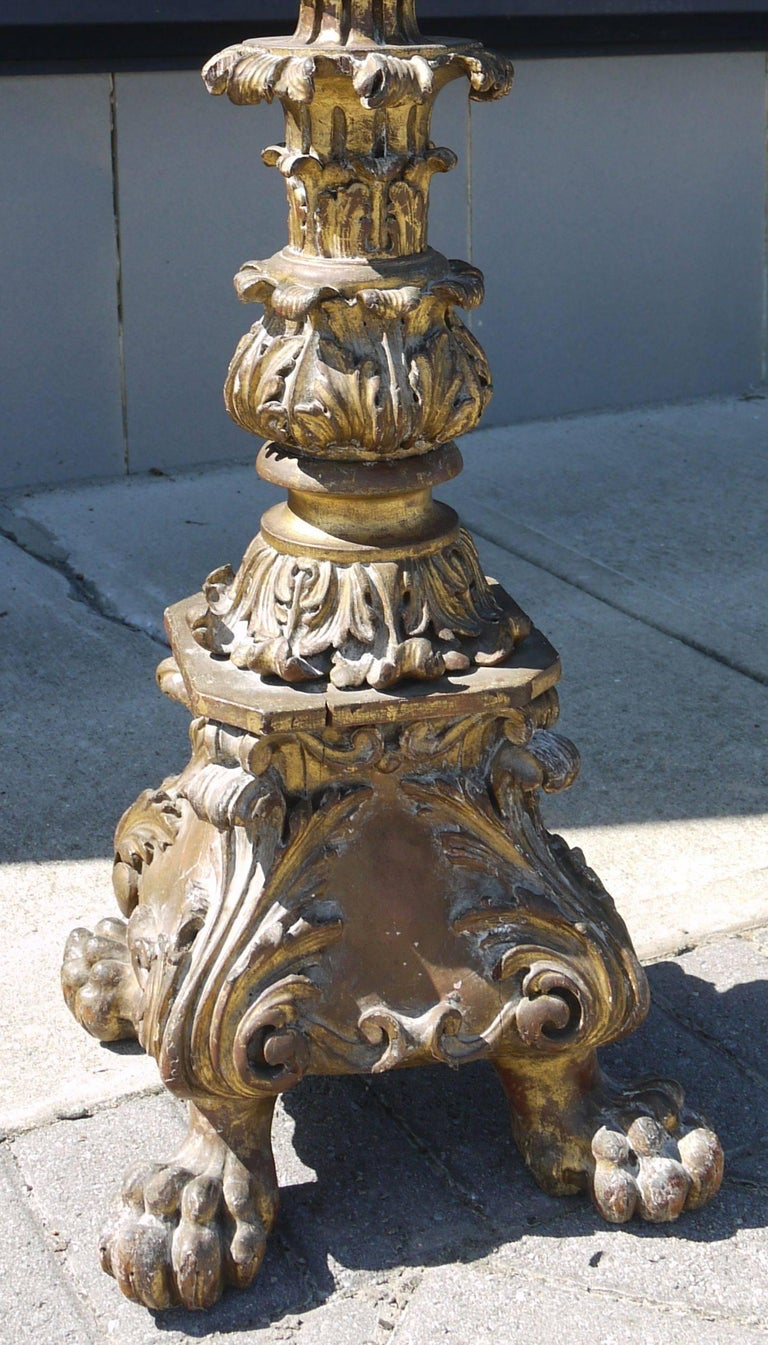 18th Century Spanish Pricket Floor Lamp 4
