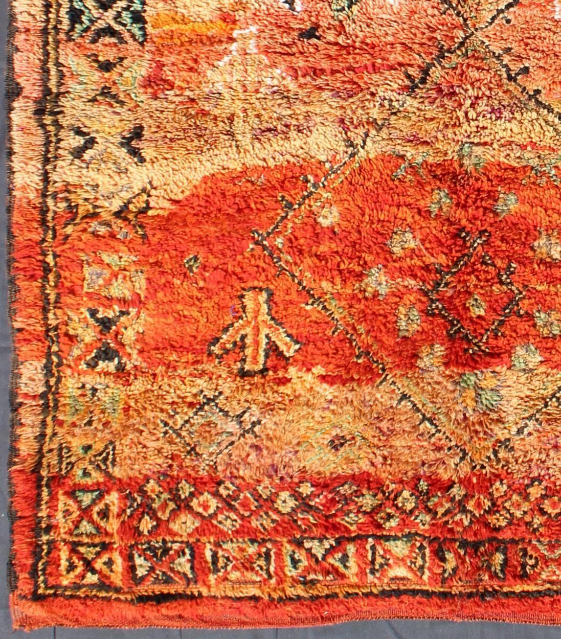 Vintage Moroccan Zemmour Rug For Sale At 1stdibs