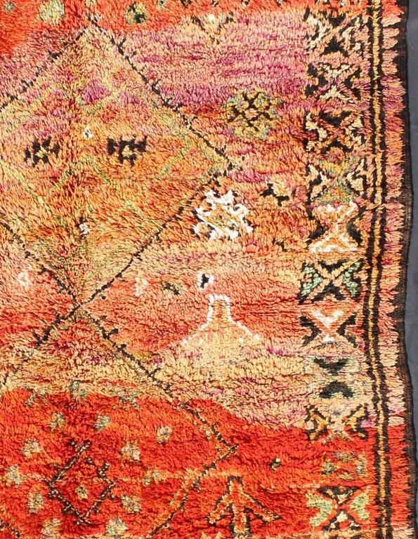 Vintage Moroccan Zemmour Rug At 1stdibs