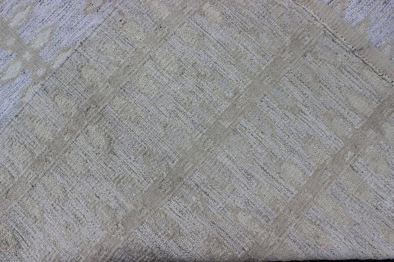 Hand-Woven Large Modern Scandinavian or Swedish Flat Weave Rug with Butterfly Design  For Sale