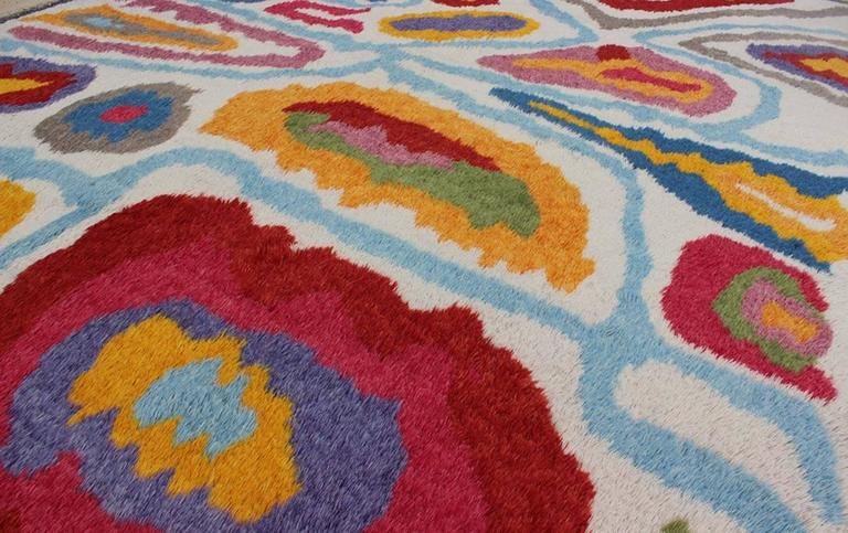 Wool Modern Turkish Angora Tulu Rug For Sale