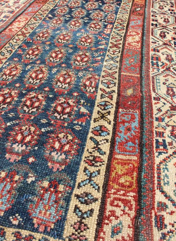 Hand-Knotted Long Antique Persian Runner For Sale