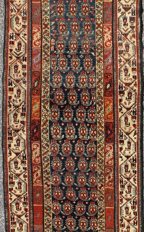 Kazak Long Antique Persian Runner For Sale