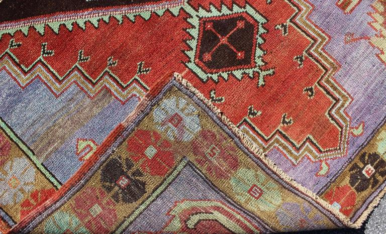 Unique And Colorful Turkish Oushak Rug With Multi Layered