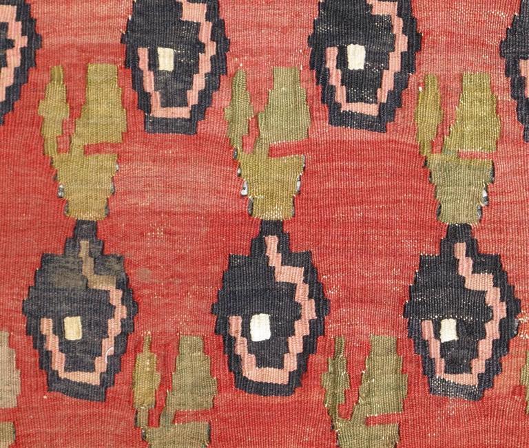 Caucasian Kilim Rug: Caucasian Kilim Carpet With Colorful All-Over Design In