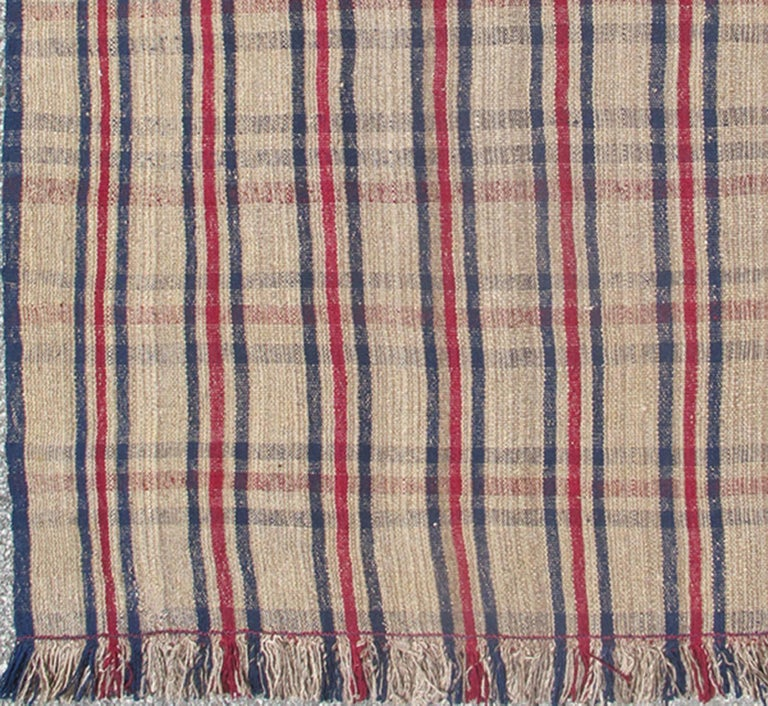 Navy Plaid Rug Uniquely Modern Rugs