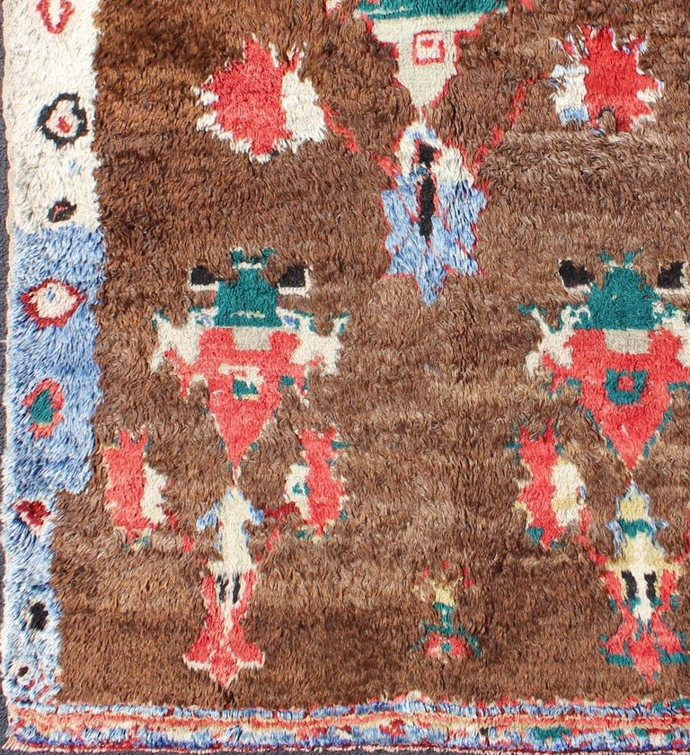 Turkish Colorful Antique Tulu Rug For Sale