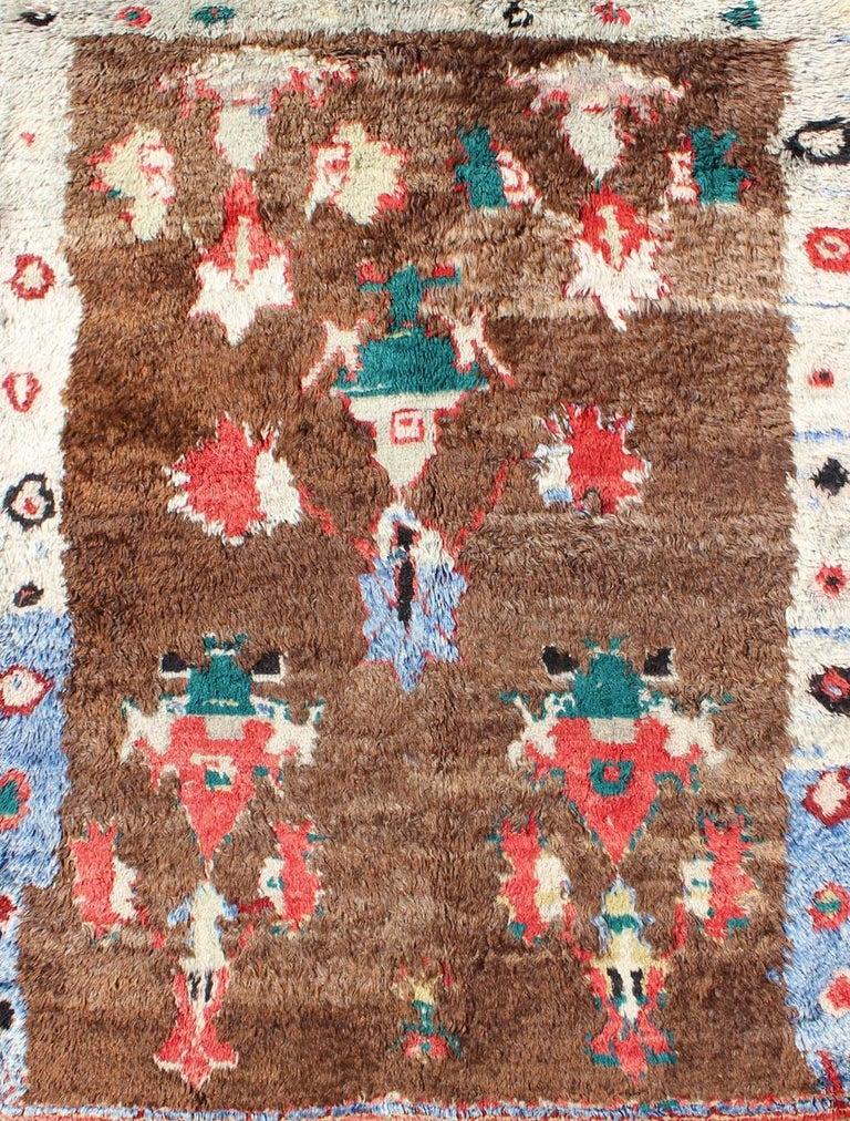 Colorful Antique Tulu Rug In Excellent Condition For Sale In Atlanta, GA